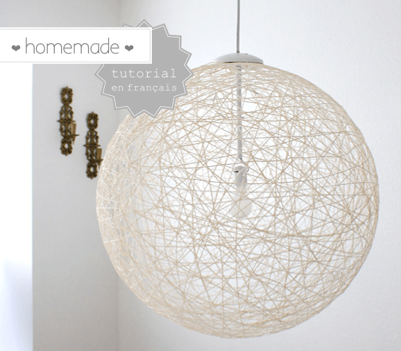 DIY : De la laine pour une jolie lampe homemade