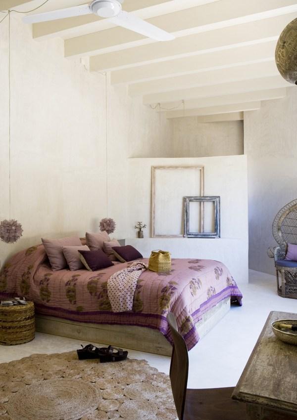 Une maison naturelle et féminine en Espagne