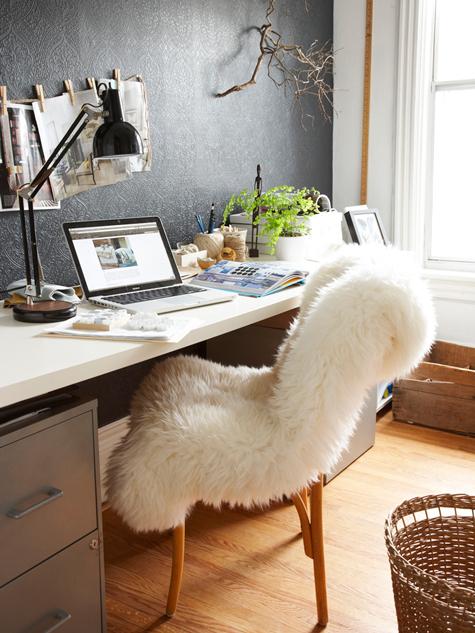 Le bureau noir et blanc de nina de stylizimo decocrush décorez