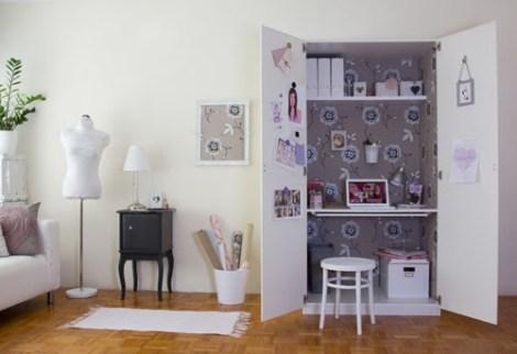 Gain de place : créez votre bureau dans une armoire decocrush
