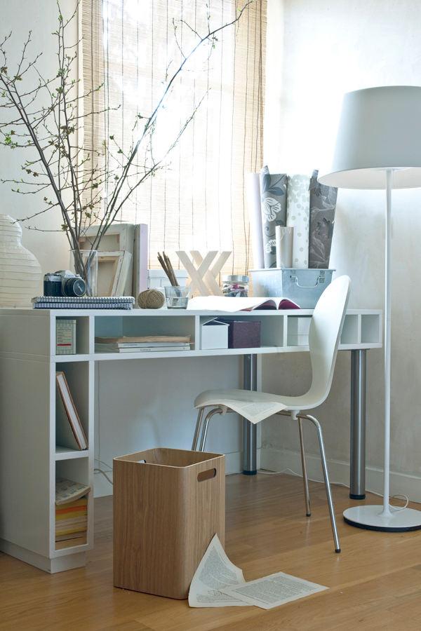 L'atelier-bureau tout blanc d'Audrey Laurent, photographe...
