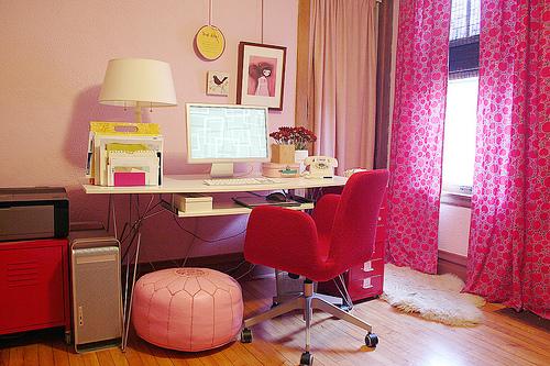 { Avant-Après } Un grand bureau féminin et organisé...   www.decocrush.fr