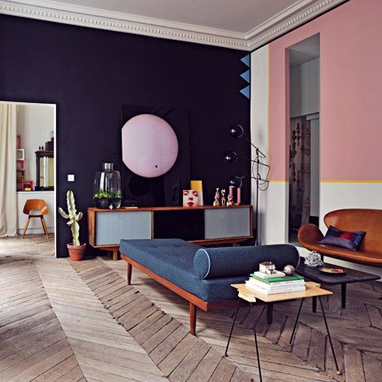 tendance d co le retour de la d co color e des ann es 50 decocrush. Black Bedroom Furniture Sets. Home Design Ideas