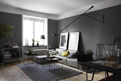 Camaïeu de gris pour ce bel appartement scandinave très chic !