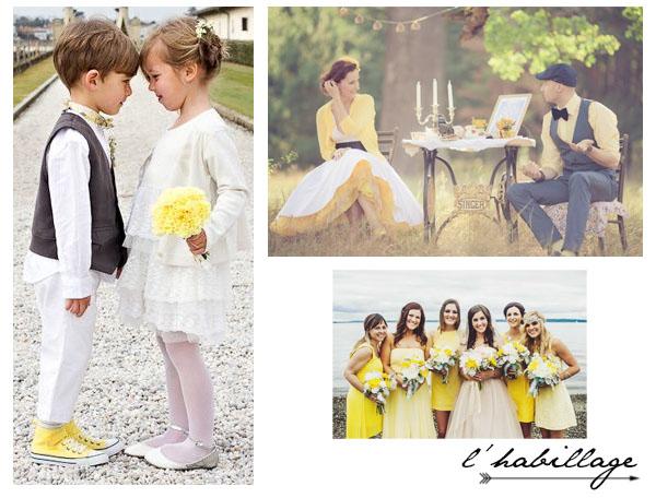Mariage : Idées déco et autres trouvailles autour du jaune | www.decocrush.fr