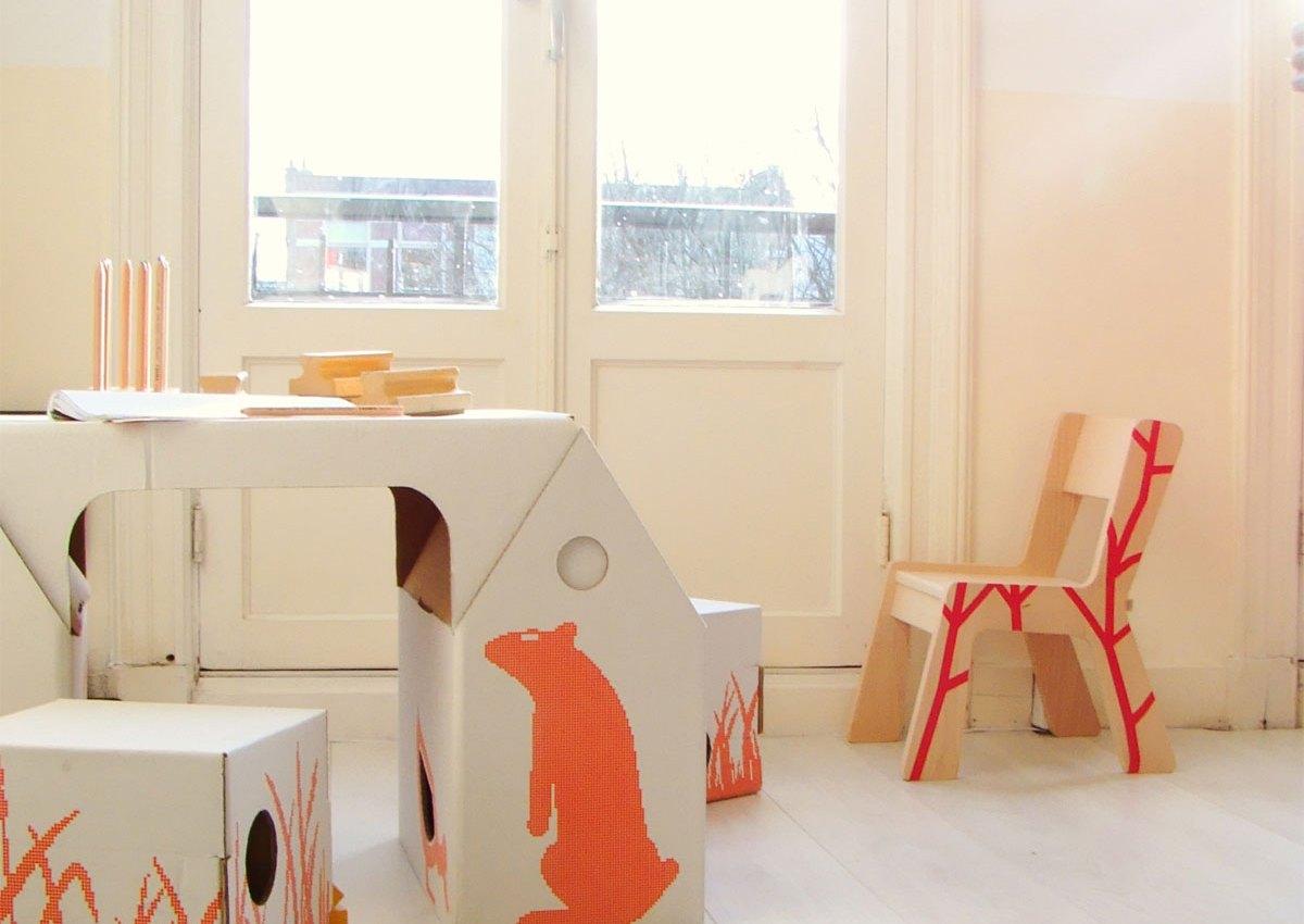 { Today I ♥ } Les bureaux d'enfants en carton design et pas cher !