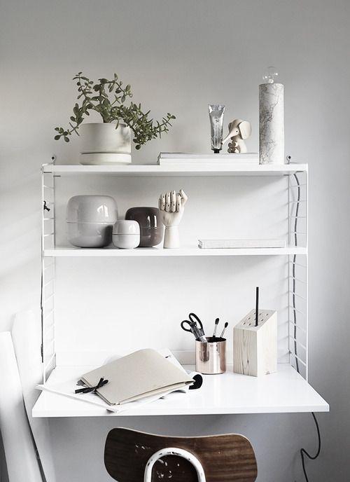 Un bureau tout blanc au style scandinave decocrush décorez