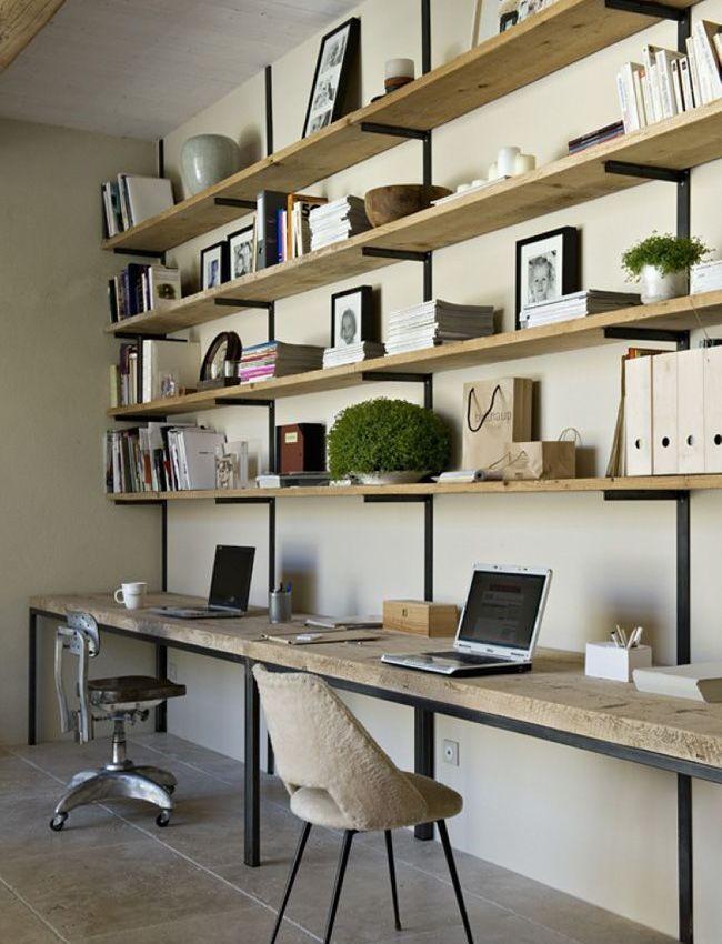 diy un bureau industriel tout simple en bois brut et acier decocrush d corez avec intention. Black Bedroom Furniture Sets. Home Design Ideas