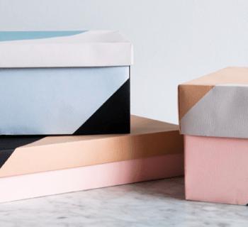 DIY : Des rangements graphiques en papier…