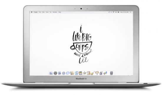 Weekly Crush... : dress your tech fonds d'écrans calligraphiés | @decocrush - www.decocrush.fr