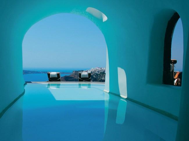 Voyages | Les 5 plus jolies piscines avec vue d'Europe - Perivolas, Santorini