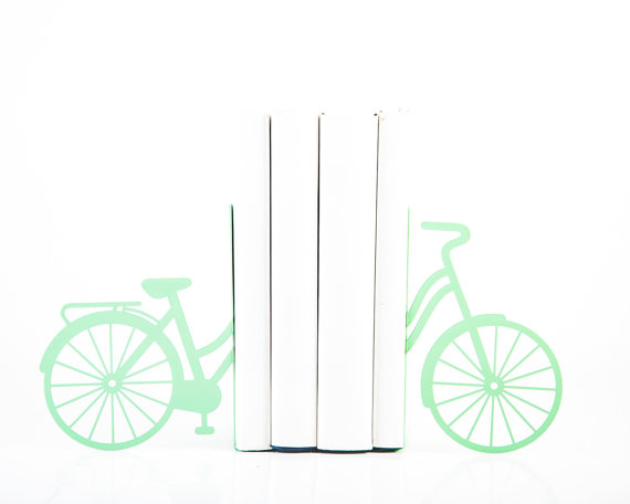 Serre-livres bicycle mint