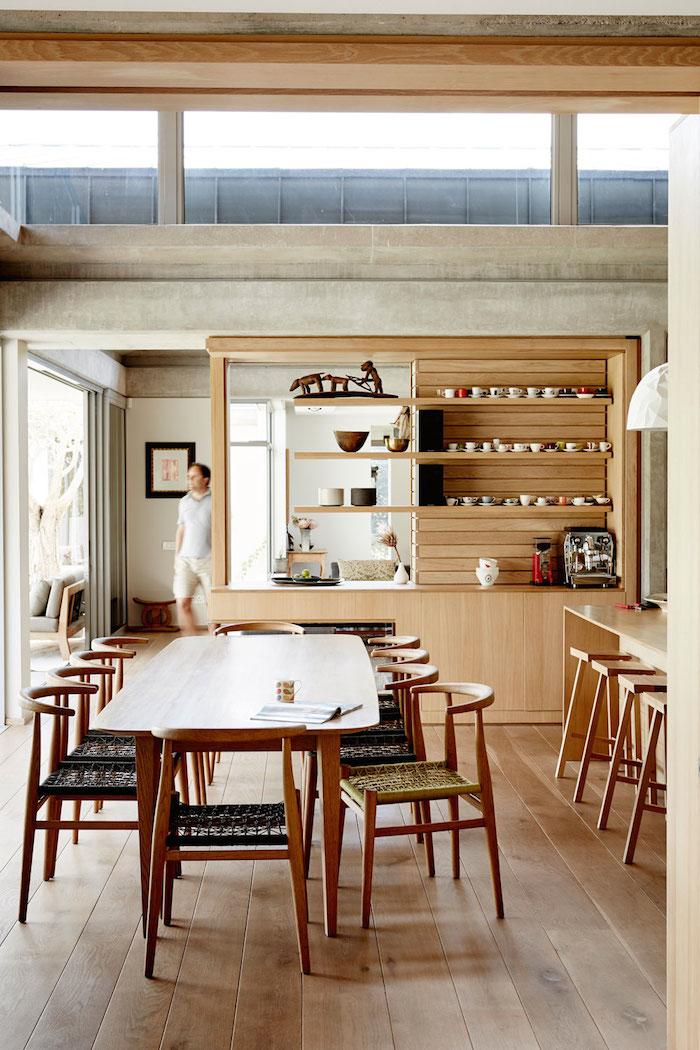 Visite d co une grande maison ouverte sur la nature - Maison wooden concrete nestor sandbank ...