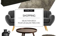 Shoppingcrush : un salon élégant noir pour un look ethnique chic