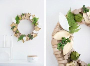 DIY : 12 couronnes de Noël modernes et minimalistes à fabriquer soi-même chez Sinnen Rausch