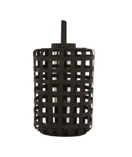 Lanterne en bambou brun contenant verre avec anse Jana de Broste chez Decoclico