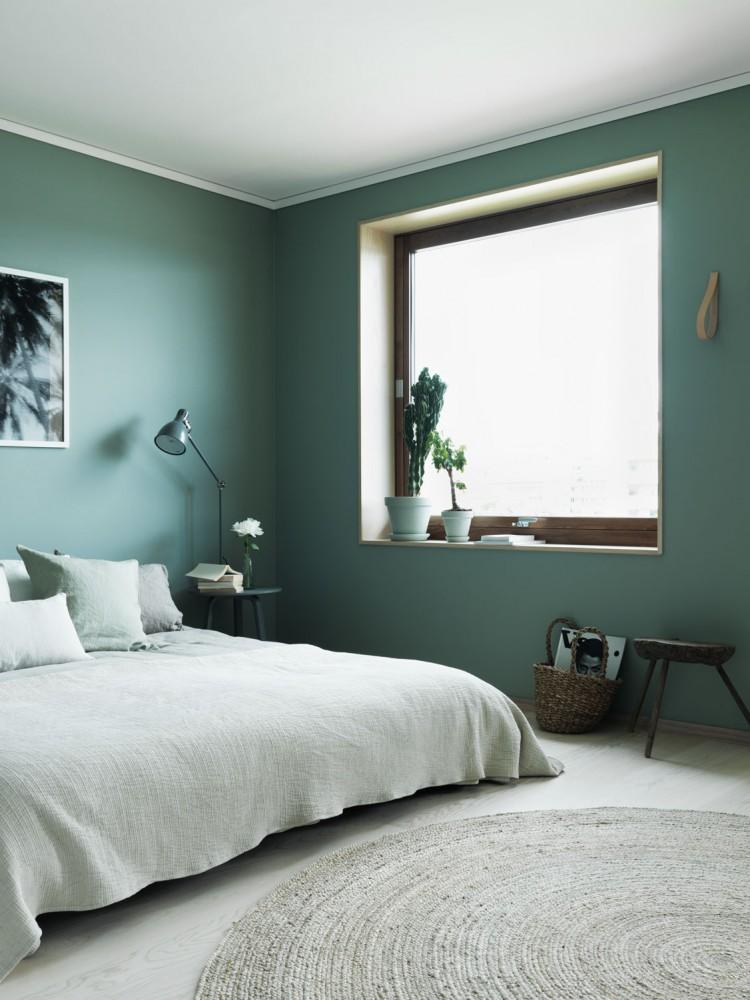 Une chambre verte très cozy