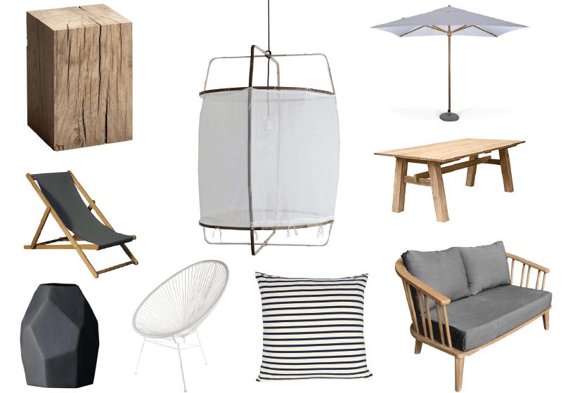 Shopping list pour une terrasse élégante et naturelle