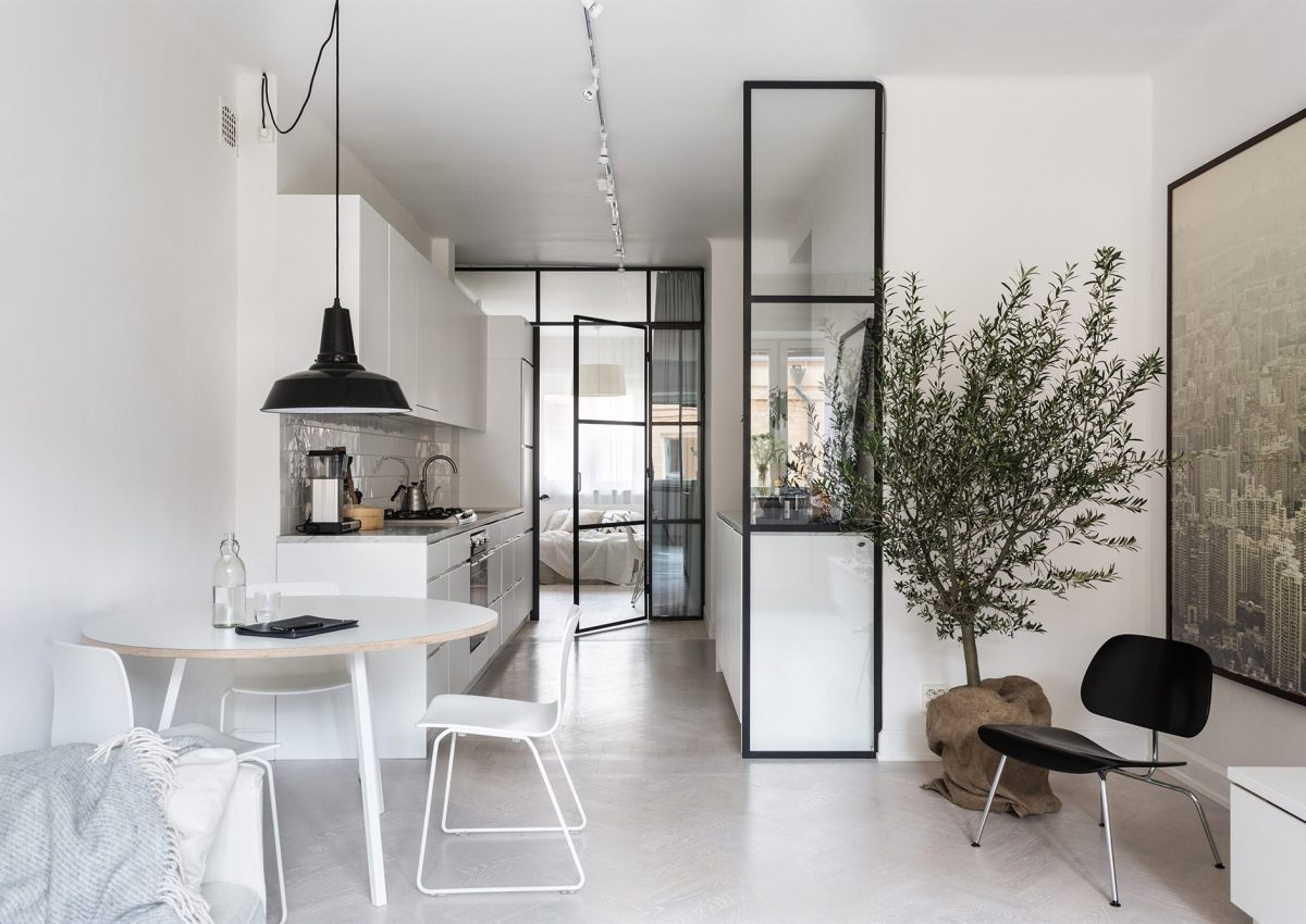 Un petit appartement tout blanc decocrush for Design petit appartement