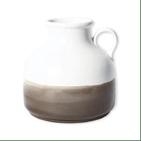 Vase en céramique fait à la main blanc et ficelle chez La Redoute