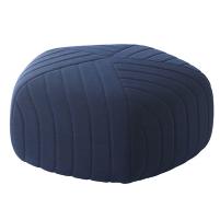 Pouf géométrique bleu nuit Muuto chez Made in Design