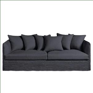 Canapé cozy en lin