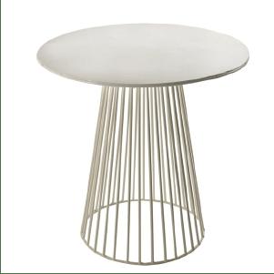 Table basse design en métal blanc