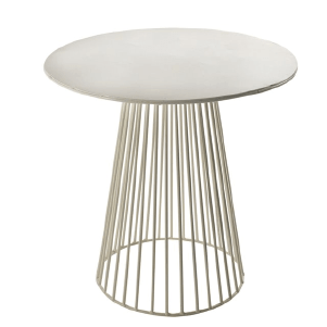 Table basse design en métal blanc