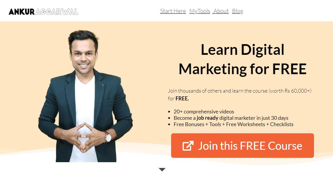 free digital marketing course by ankur aggarwal