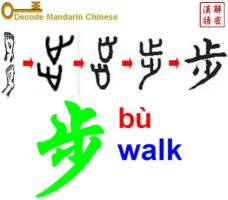 Pictogram of 步 step