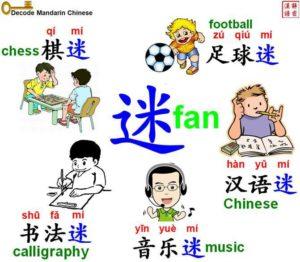 Suffix 迷 and its formula
