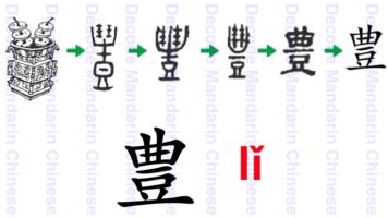 Component 豊 an ancient sacrificial vessel