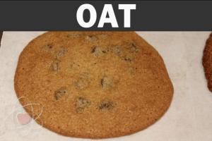 Oat flour, baked