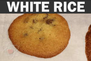 White rice flour, baked