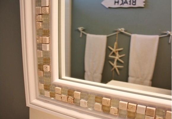 Ideas para decorar el marco de un espejo