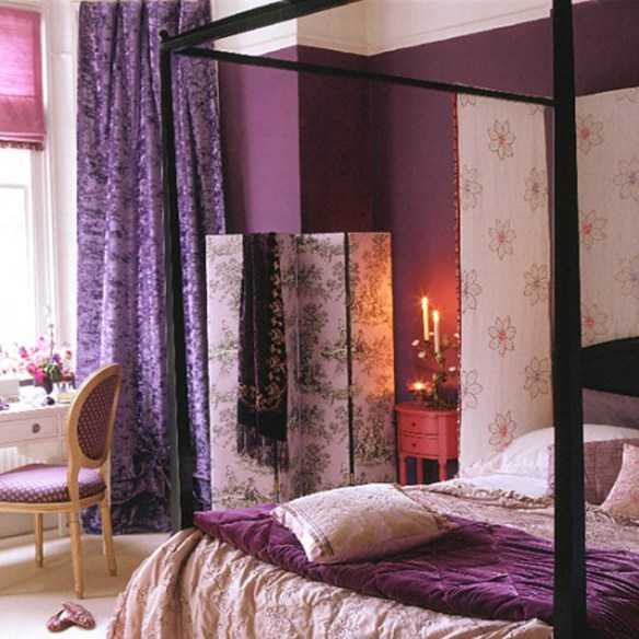 purple-bedroom-flower-theme-idea-purple-bedroom