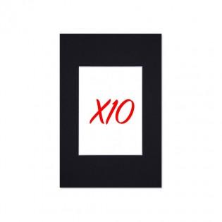 Lot 10 Passe Partout Format Standard Noir Pour Cadres Et Photos Cadre 20 X 30 Cm