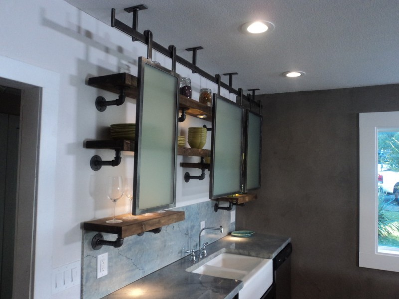 Pipe Kitchen Shelves Suspended Ceiling