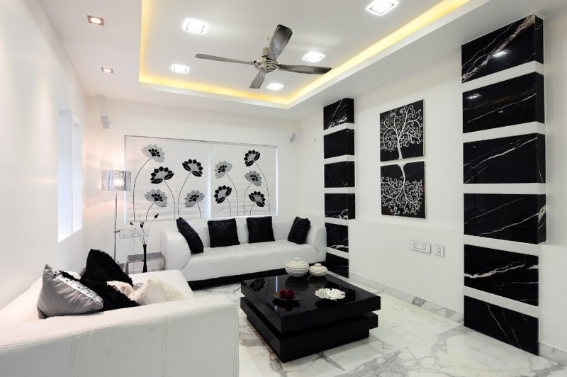 Be Simple Yet Modern With These Black And White Living