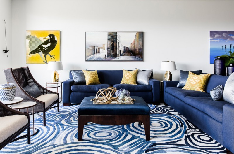 Maximizing The Beauty Of Your Living Room Using Blue Sofa