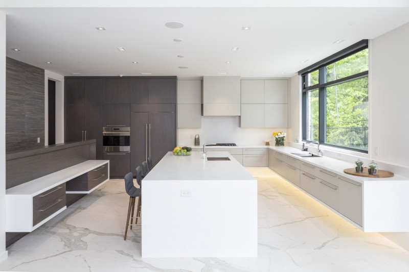 Intelligent Choices Of Floating Kitchen Cabinets For A Kitchen Decohoms