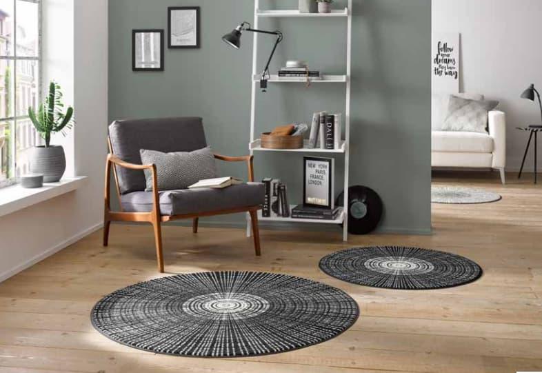 https www decolecedre com decoration paillasson et tapis entree tapis rond cascara de kleentex