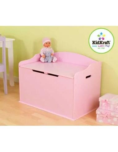 coffre a jouets enfant rose