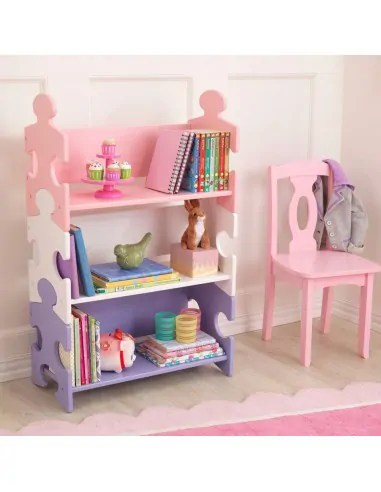 bibliotheque enfant puzzle pastel