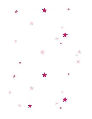 rideau enfant etoiles roses