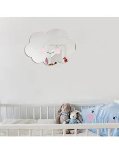 miroir enfant nuage sourire