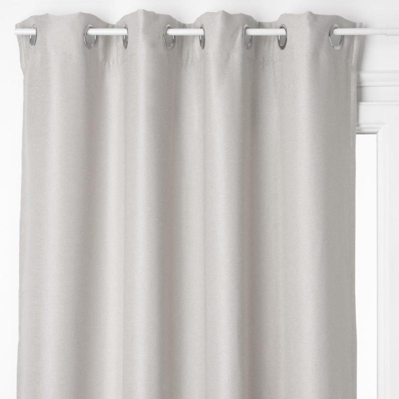 rideau occultant gris clair lino 140x260