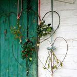 Corona de Navidad rústica para decoración vintage