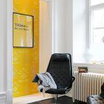 ¡Un acento amarillo para alegrar la decoración!