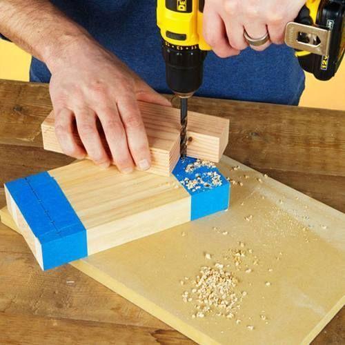 Felpudo original DIY con listones de madera 3